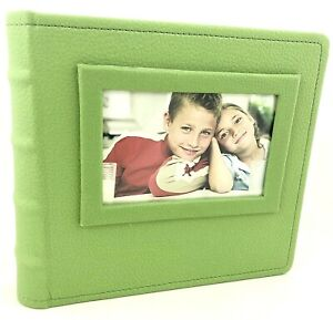 Salton At Home Green Photo Album 4x6 2-Up 50 Pages 200 Photos New
