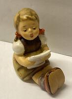 Vintage Goebel Hummel Figurine Little Girl Sitting Singing Holding Sheet Music