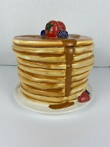 """QUAKER OATS 7"""" Pancake Stack Cookie Jar 2001 Limited Edition 638/1200 Hot Cakes"""