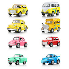 Mini Pull Back Car Model Sound Light Pull-back Vehicle Model Toys Birthday Gifts