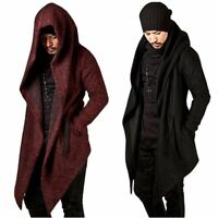Fashion Mens' Hooded Parkas Winter Warm Jackets Casual Irregular Cardigan Coats