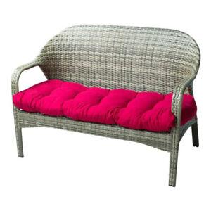 Luxury Garden Patio Swing Bench Cushion Seat Pad Backrest Reversible Cushion