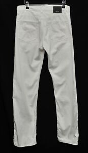 Men's BOSS Hugo Boss Relaxed Fit White Cotton Trousers Straight Leg 32 W 32 L