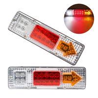 2x 12V 1.5W 19 LED Luz de la Cola Brillante Tráiler/Camión Freno Giro Inverso