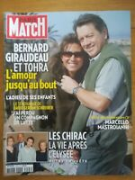 SUPERBE PARIS MATCH N°3193 2010 adieux Bernard Giraudeau + Mastroianni Jablonski