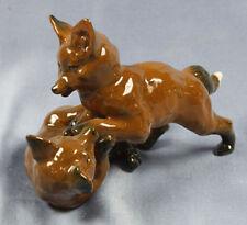 Fuchsgruppe figur von Rosenthal fuchs fox füchse Porzellanfigur Heidenreich