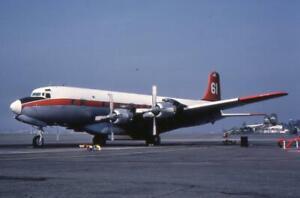 35mm Aircraft Slide TBM Inc N848D '61' Douglas DC-7B 1985