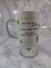Irish Coffee Recipe Mug May You Be in Heaven Toast St Patricks Day Cup Shamrocks