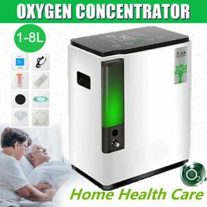 Intelligent Home Portable 1-8L/min 90% O2-Concentrator Generator Machine Adjust