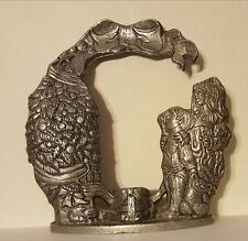 Carson Pewter Taper Candle Holder Christmas Tree Children Gift Bow Santa Cat
