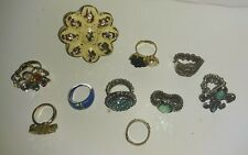 Bundle lot #4 of costume mix of rings.