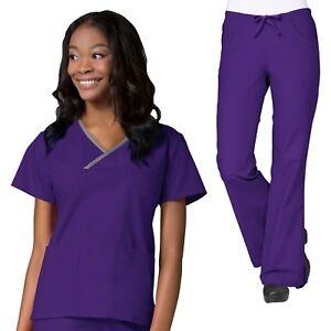 Maevn Scrubs Set CORE Medical Uniform Classic V-Neck Top & Cargo Pants 1026/9026