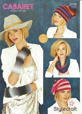 Stylecraft 9186 Knitting Pattern-Snood,Beret,Slouchy hat and Mittens