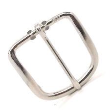 """Heel Bar Buckle Nickel Fits 1"""" Belt 1574-22"""
