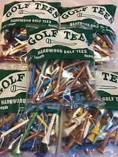 "250 Professional Shiny Mix 2 3/4"" Hardwood Golf Tees Free Shipping"