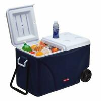 Cooler Wheeled 75 Qt. Outdoor Camping Picnic Ice Chest Food Beverage Storage