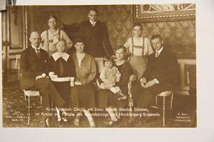 alte Foto AK Familie des Grossherzogs von Mecklenburg - Schwerin Kronprinzessin