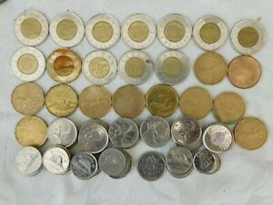 $43 DOLLAR CENTS ETC WORTH CANADA CANADIAN CURRENCY COINS