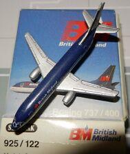 Schabak 1:600 Scale Diecast 925-122 BM British Midland Airlines Boeing 737-400