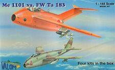 Valom 1/144 Model Kit 14401 Messerschmitt Me 1101 and Focke-Wulf Ta 183