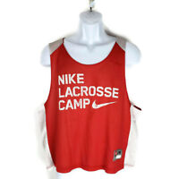Nike Vest Lacrosse Camp S Red and White Sleeveless