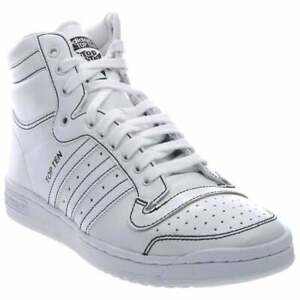 adidas  Ten Hi Mens  Sneakers Shoes Casual   - White - Size 9 D