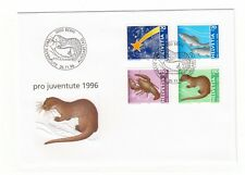 SWITZERLAND HELVETIA PRO JUVENTUTE 1996 CHRISTMAS & WILDLIFE FIRST DAY COVER