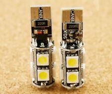 Xenon White Led Daytime Parking Side Light 9 Smd Bulbs Error Free 12v T10