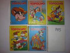 LOTTO 6 TOPOLINO:1970 N° 767-N° 768-N° 769-N° 771-N°777-N°785-WALT DISNEY