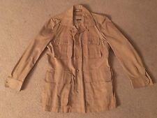 Rare VTG Army Safari Short Sleeve Button Down Pockets Military Original Mod 50's