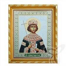 Icona SANTO Konstantin legno 21x18 Святой Константин икона