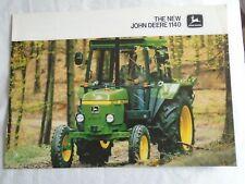 John Deere 1140 Tractor brochure Aug 1979 English text