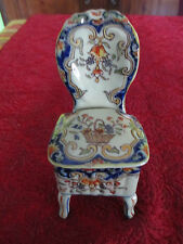 coffret a bijoux desvres forme chaise