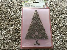 Crafter's Companion  Embossing Folder - Festive Tree SARA SIGNATURE COLLECTION