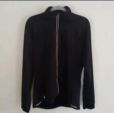 Smartwool Men's Run Divide Sz L Black Lightweight Full Zip Jacket Merino EUC