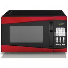 New listing Hamilton Beach P90D23Al-Wrr 900W 0.9 Cu Ft. Stainless Steel Microwave Oven - Red