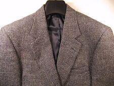 Lands End Harris Tweed Mens Blue Grey Barleycorn Sportcoat 43R