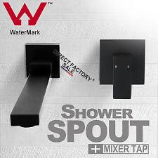 Bath Swivel SPA Shower Spout+Bathroom Dorf Mixer Tap Faucet Black Assembly Set