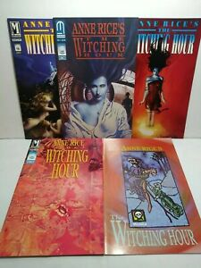 Anne Rice The Witching Hour 1-5 Lot complete series JOHN BOLTON set #1 2 3 4 5