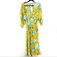 NWT Faithfull The Brand Anthropologie  Rafa Midi Dress Annina Floral size XL