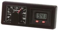 Historische RICHTER Digital Quarzuhr mit Bimetall Thermometer HR Art 7260 DEFEKT