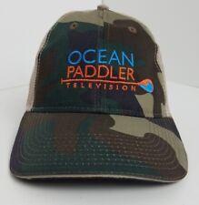 Ocean Paddler Television Camo Mesh Adjustable Strap Back Hat / Cap New !