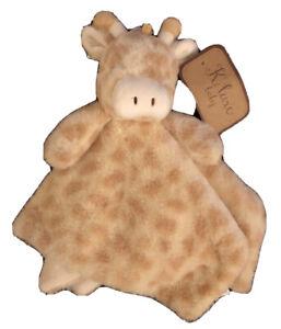K Luxe Baby Cream Tan Giraffe Security Blanket Plush Lovey Kellytoy Kellybaby