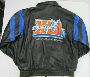 Reebok Super Bowl XLI Roger Edwards Leather Jacket Mens' Size L