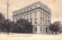 Postcard Masonic Temple in Montgomery, Alabama~124756