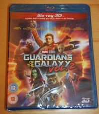 Marvel's GUARDIANS OF THE GALAXY VOL. 2  (2017) 3D + 2D) BLU-RAY Set, Brand New