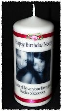 30th Birthday candle personalised gift with photo & message Memento #8