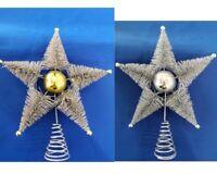 25cm Christmas Star w Snowflake Tree Topper Xmas Tree Top Ornament Decor