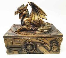 Steampunk Jewelry Box Robotic Victorian Sci-Fi Clockwork Gear Design Figurine