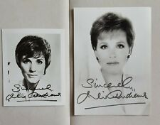 2 hand signed Julie Andrews BW photos autographed 5x7 Zoe Dominic 4x6 authentic